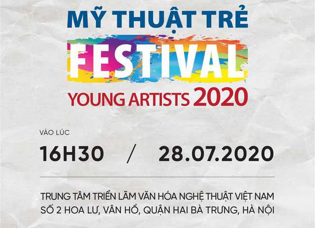 Giấy mời Festival Mỹ thuật trẻ 2020