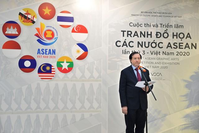 Khai mạc Cuộc thi và Triển lãm Tranh Đồ họa các nước ASEAN lần thứ 3 – Việt Nam 2020