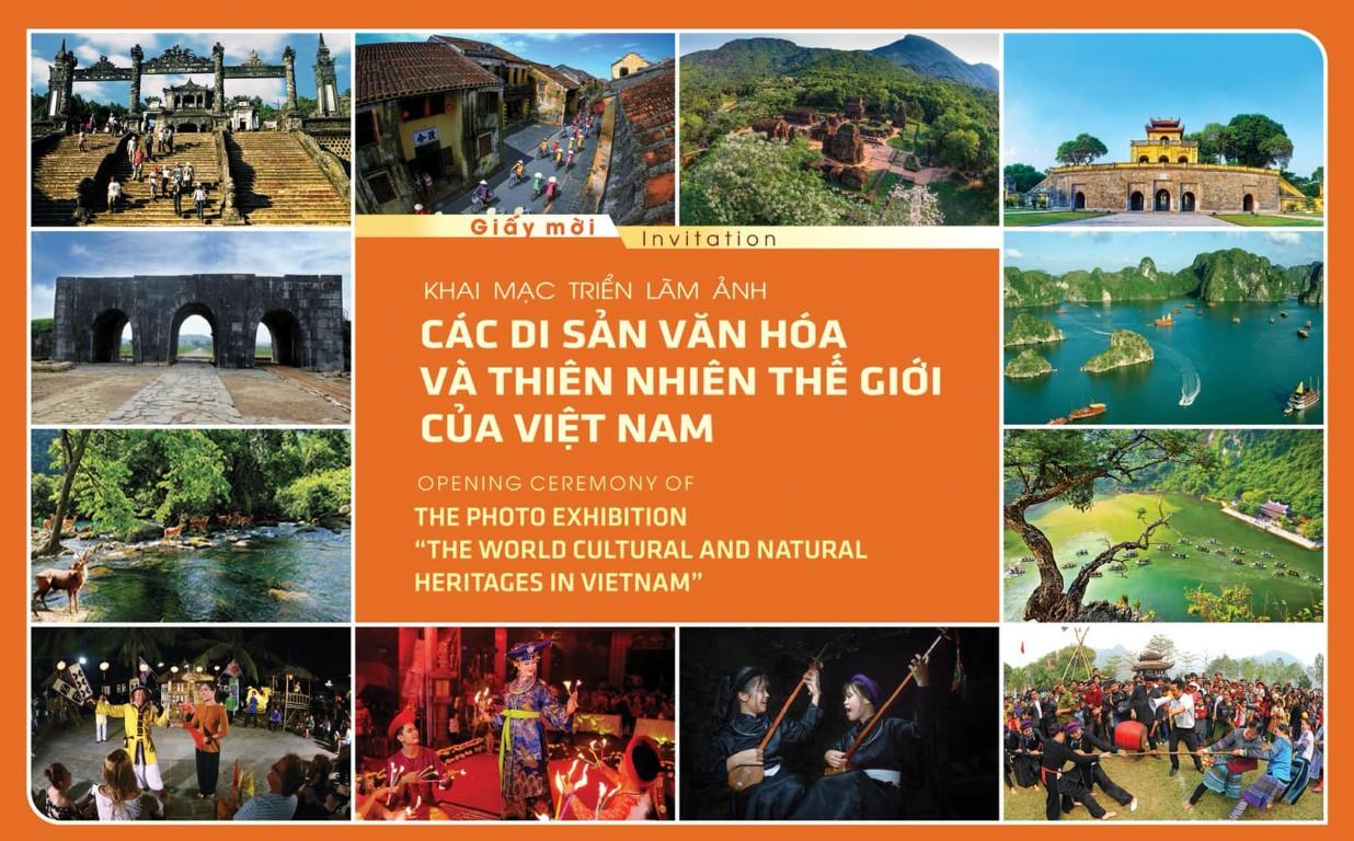 """Giấy mời Triển lãm ảnh """"Các Di sản văn hóa và thiên nhiên thế giới của Việt Nam"""" tại Phú Quốc"""