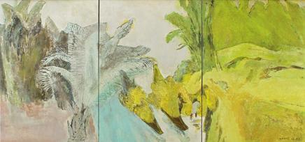 Ngày mùa ở Hợp tác xã Đại Phong -2012, sơn mài, Huy Chương Đồng, Đinh Trọng Khang (Hà Nội)