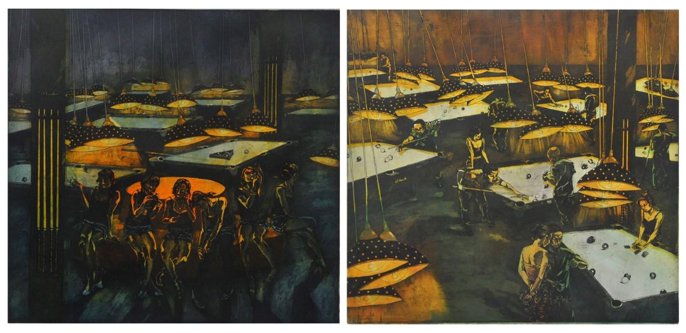 Đèn vàng 1-2-2014, khắc kẽm, Giải KK, Nguyễn Đức Hạnh (Hà Nội)