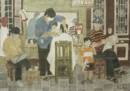Góc phố-2013, lụa, Giải KK, Nguyễn Hoàng Long (Hà Nội)