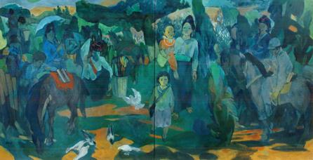 Chiều biên giới-2011, sơn dầu, Huy chương Bạc, Trần Huy Oánh(Hà nội)