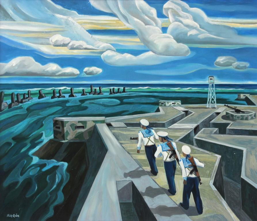 Tổ quốc nơi đầu sóng, sơn dầu, Hồ Minh Quân (Tp.HCM)