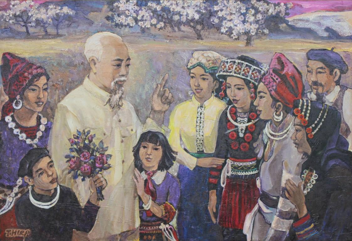 Đoàn kết là sức mạnh, sơn dầu, Giải KK, Nguyễn Trọng Hiệp (Nghệ An)