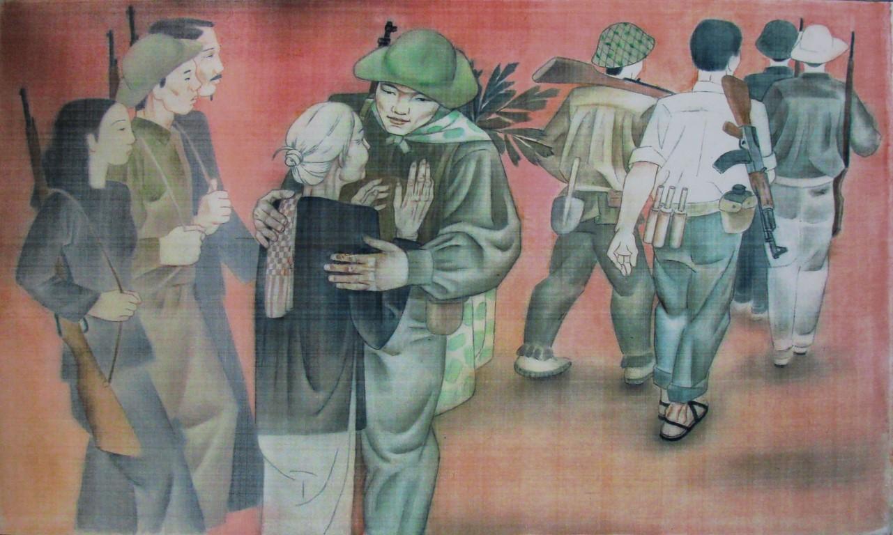 Tổ quốc gọi, lụa, Lê Thị Kim Bạch (Tp. HCM)
