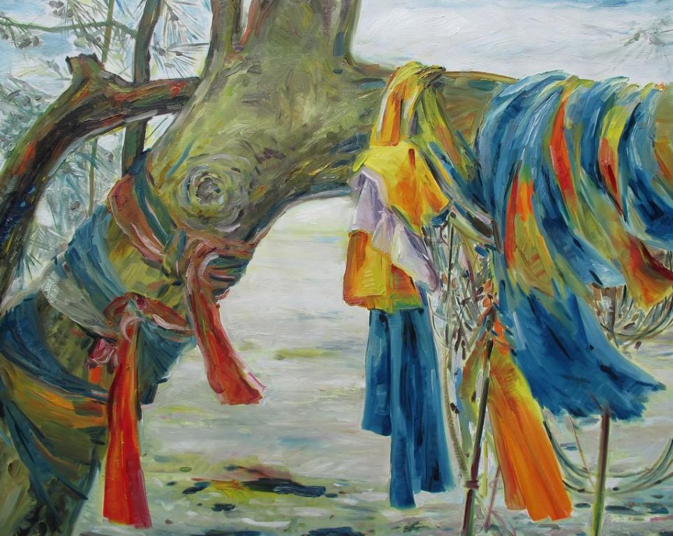 Nữ thần biển, sơn dầu trên vải, Sumalee Ekachnniyom (Thái Lan)