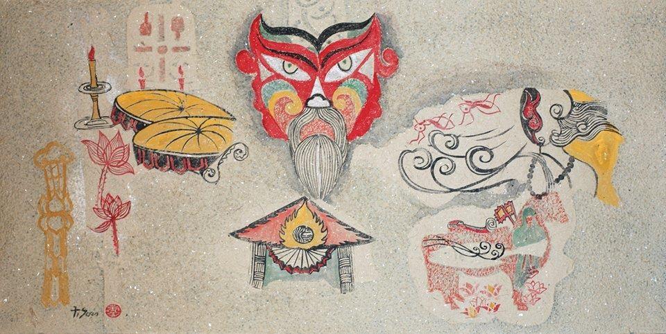 Gió mùa hạ, Đồ họa trên giấy Trúc chỉ, Nguyễn Thanh Sơn (Việt Nam)