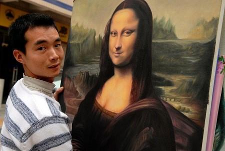Một bức nàng Mona Lisa chỉ có giá 30 euro (tương đương gần 850.000 VND)